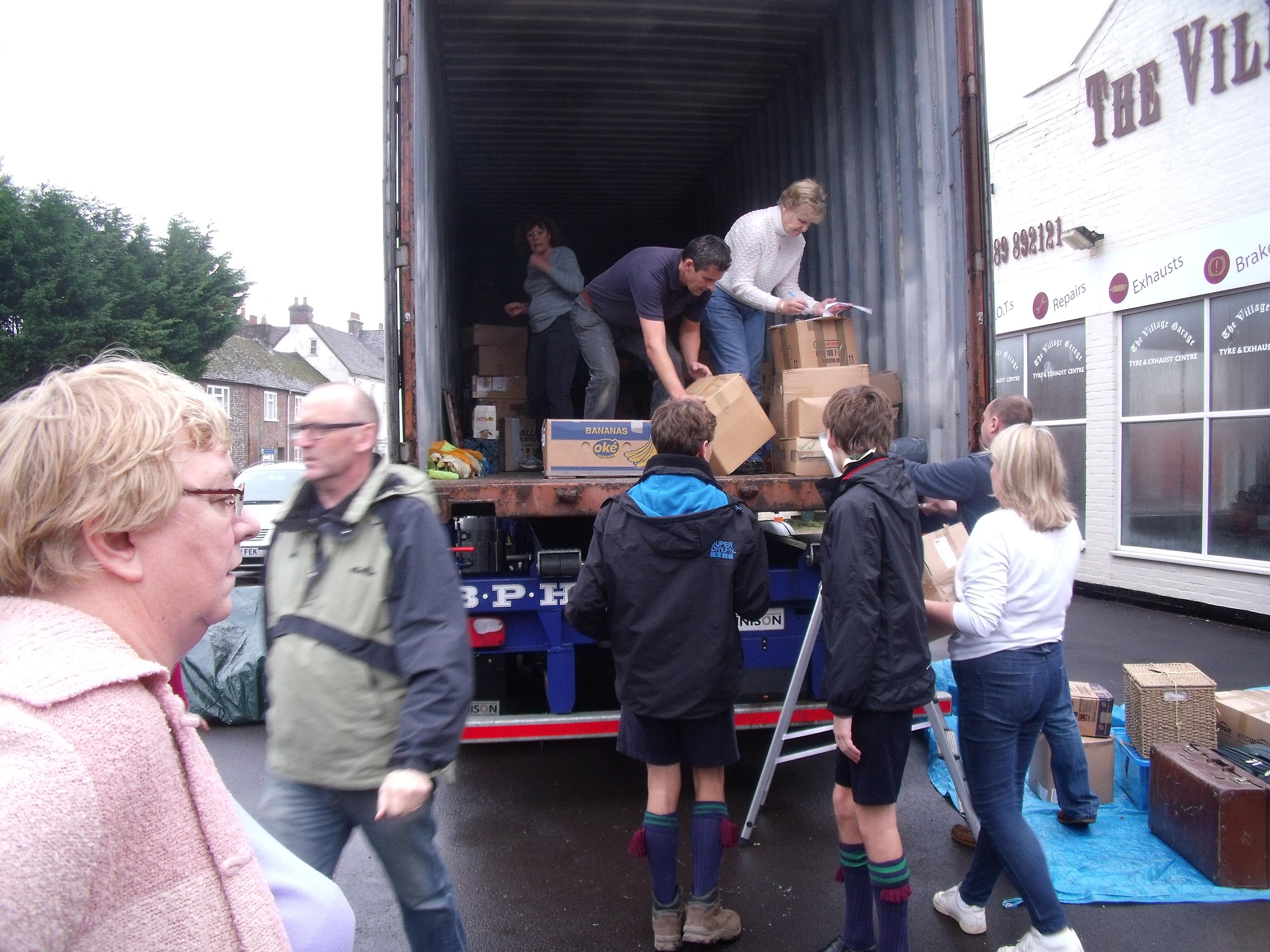 Loading the Container in Bishops Walthan  Nov 2015